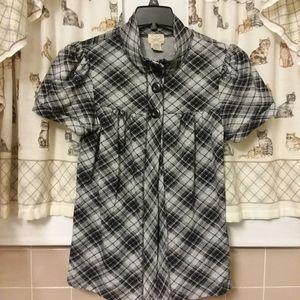 Black & Heather Grey Eyelash Couture Soft Blouse